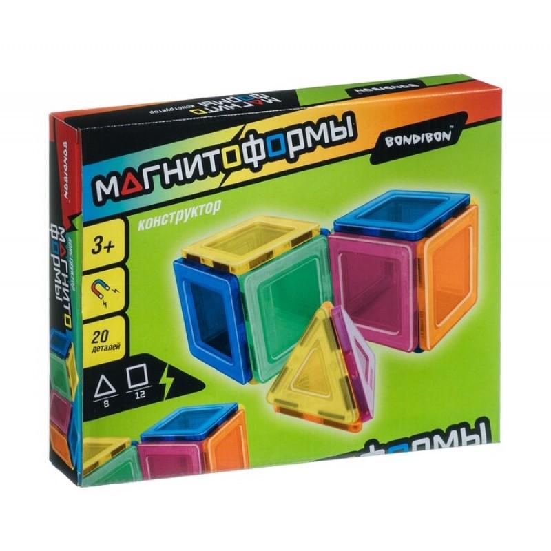 Конструктор Bondibon магнитный Магнитоформы 20 деталей