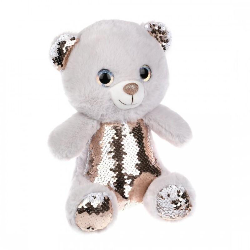 Мягкая игрушка Fluffy Family Мишка с пайетками 27 см