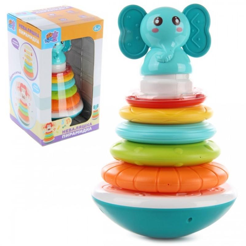 Развивающая игрушка Ути Пути Неваляшка Пирамидка-слоник