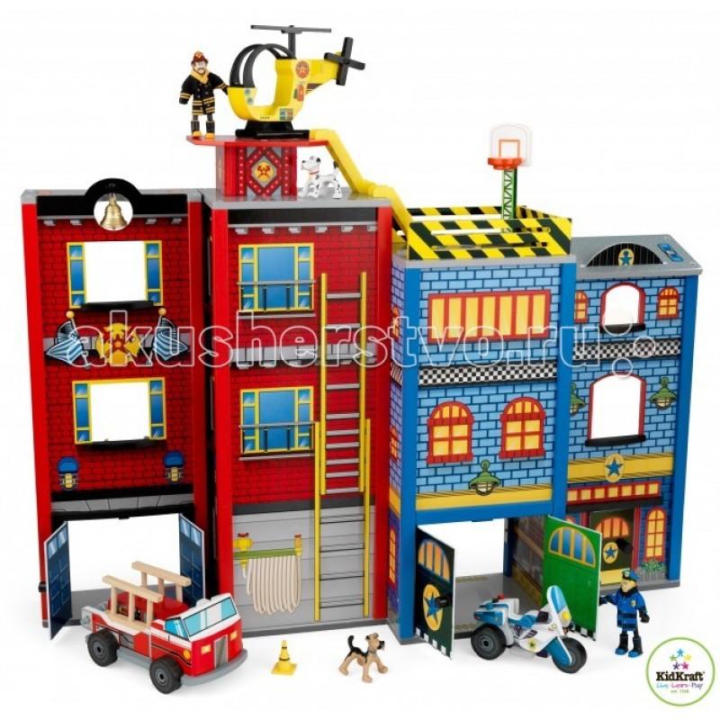 KidKraft Игровой набор для мальчиков Здание спасательной службы 26 элементов
