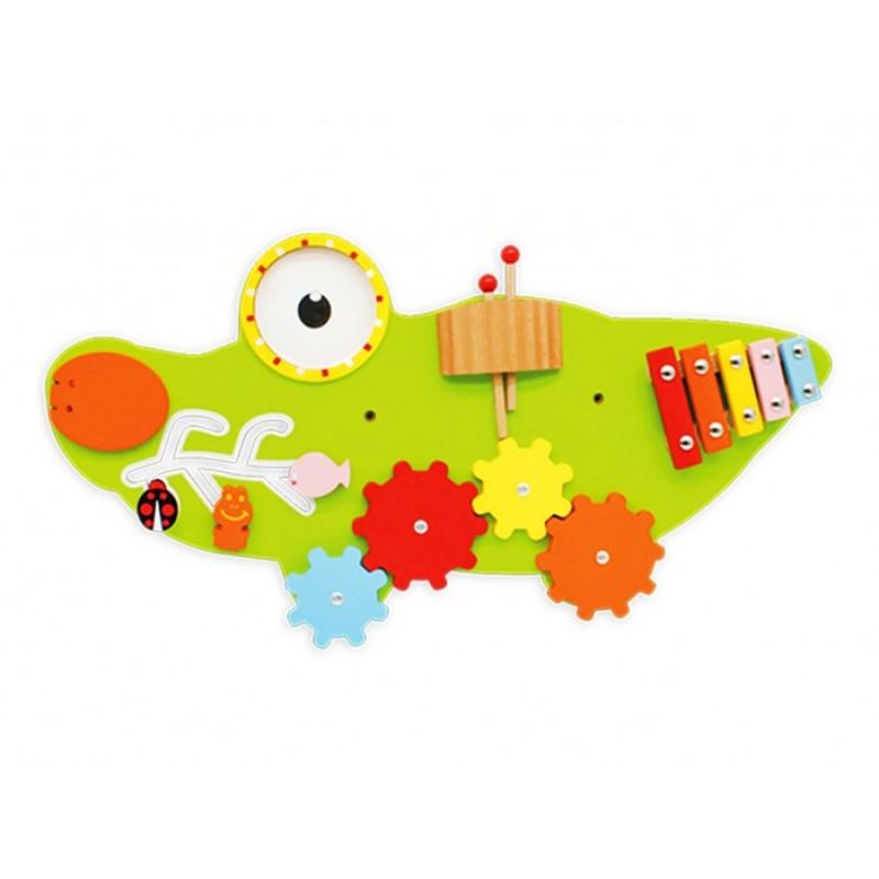 Деревянная игрушка Troys Бизиборд Крокодил