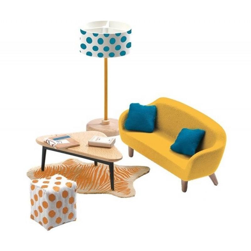 Djeco Мебель для кукольного дома Оранжевая гостиная