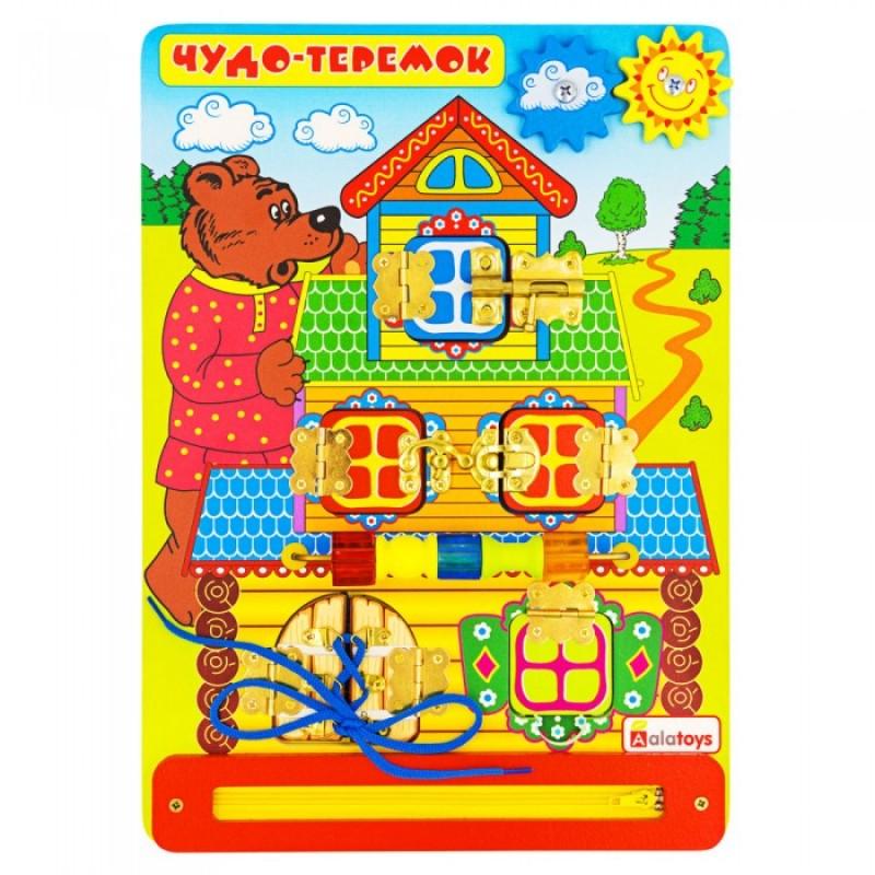 Деревянная игрушка Alatoys Бизиборд Чудо-Теремок ББ214
