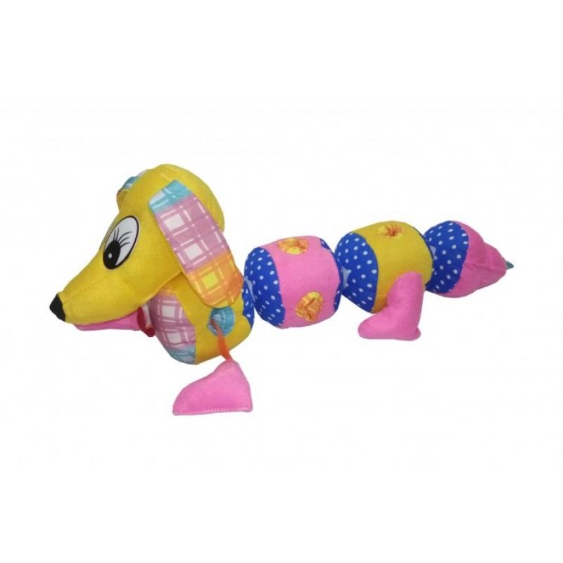 Мягкая игрушка Учитель мягконабивная Такса 40x9 см