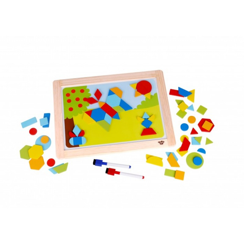 Деревянная игрушка Tooky Toy Магнитная игра Формы