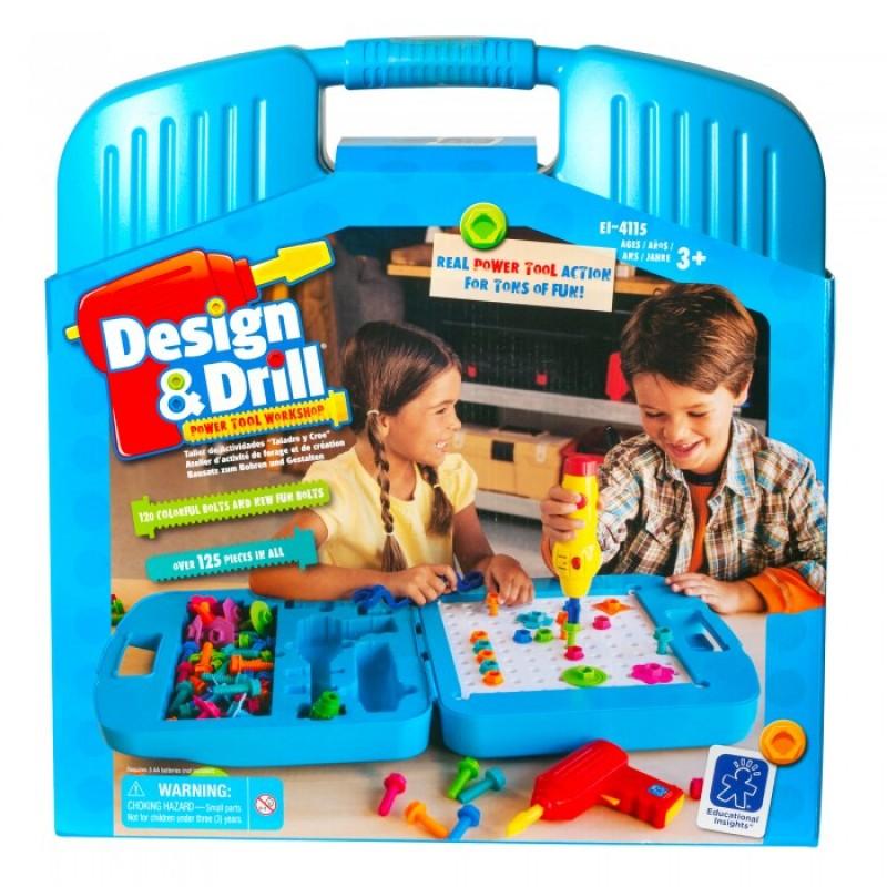Learning Resources Игровой набор Закручивай и учись Большой чемоданчик (125 элементов)
