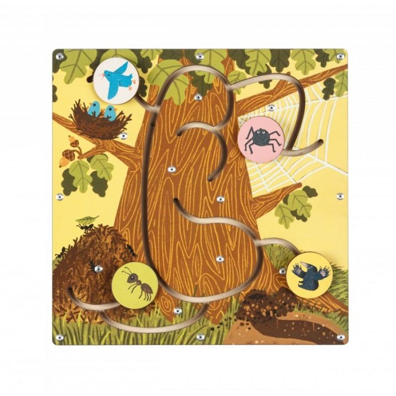 Деревянная игрушка Forest kids Лабиринт Кто где живет?