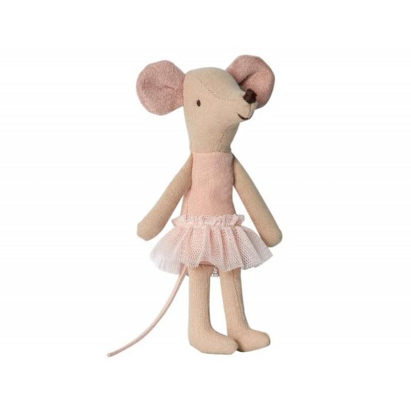 Мягкая игрушка Maileg Мышка старшая сестра Балерина 12 см