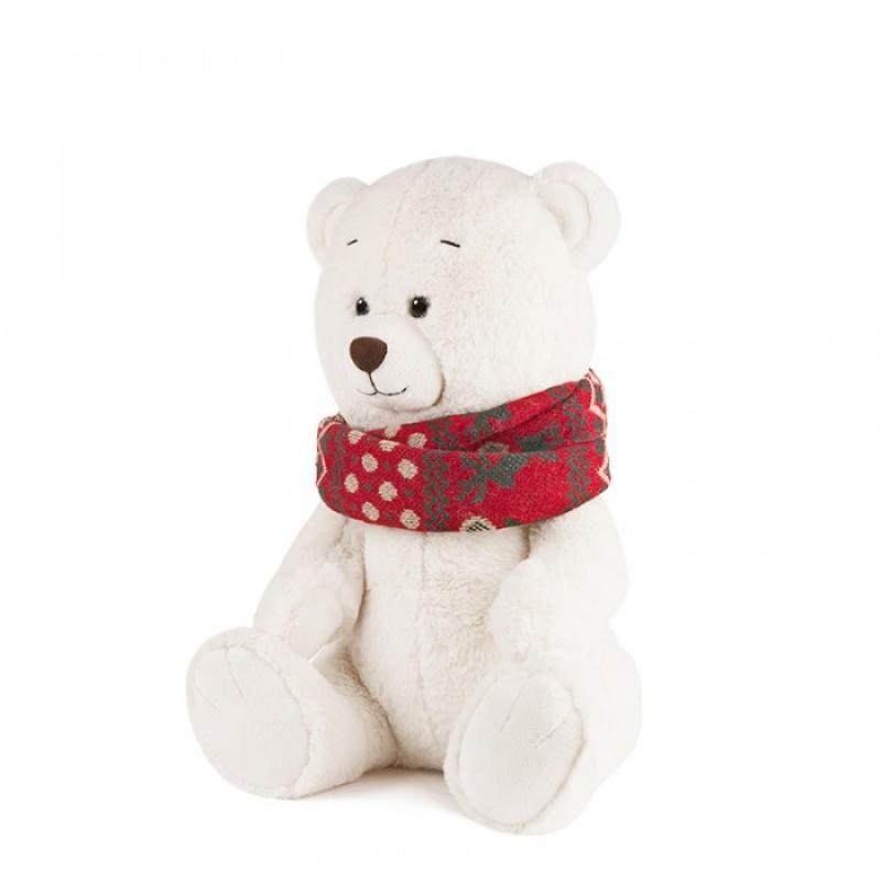 Мягкая игрушка Maxitoys Luxury Мишка Норди с шарфом 25 см