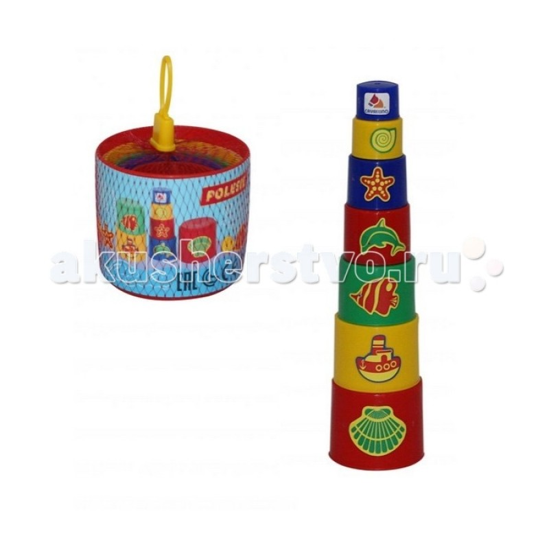 Развивающая игрушка Полесье Занимательная пирамидка № 3