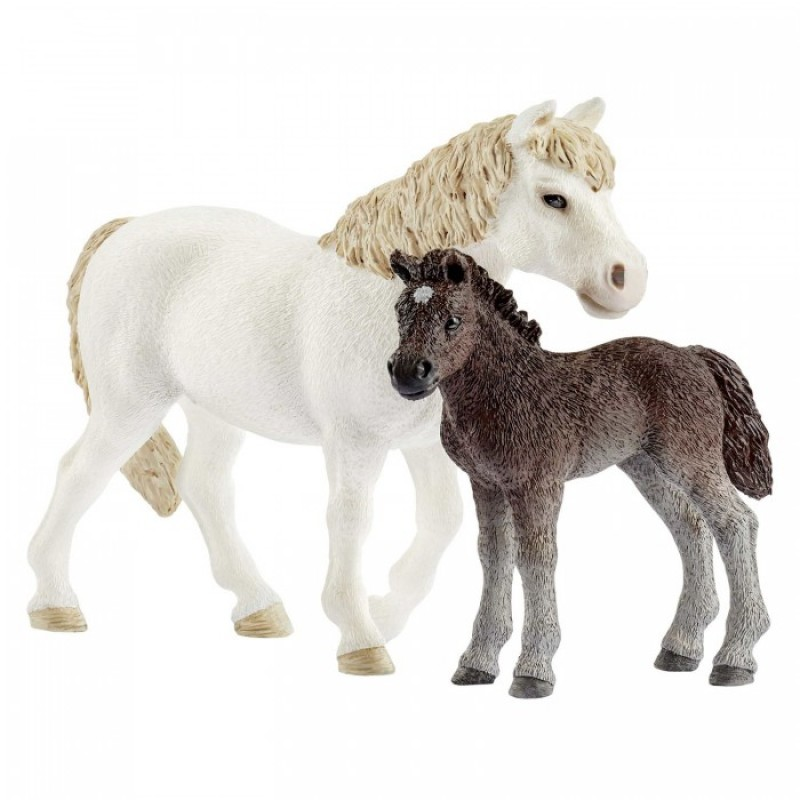 Schleich Кобыла пони и жеребенок