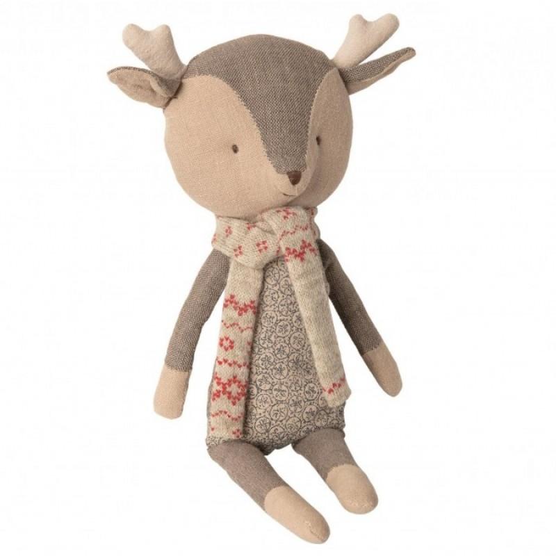 Мягкая игрушка Maileg Зимние друзья Олененок мальчик 1