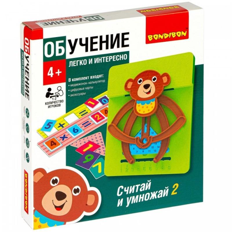Bondibon Настольная обучающая игра Считай и умножай 2 Мишка