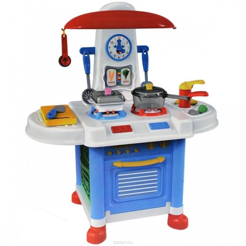 ABtoys Помогаю маме Кухня с набором аксессуаров со звуковыми эффектами в коробке