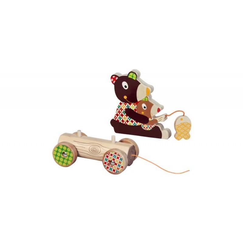 Каталка-игрушка Ebulobo Мишка большая