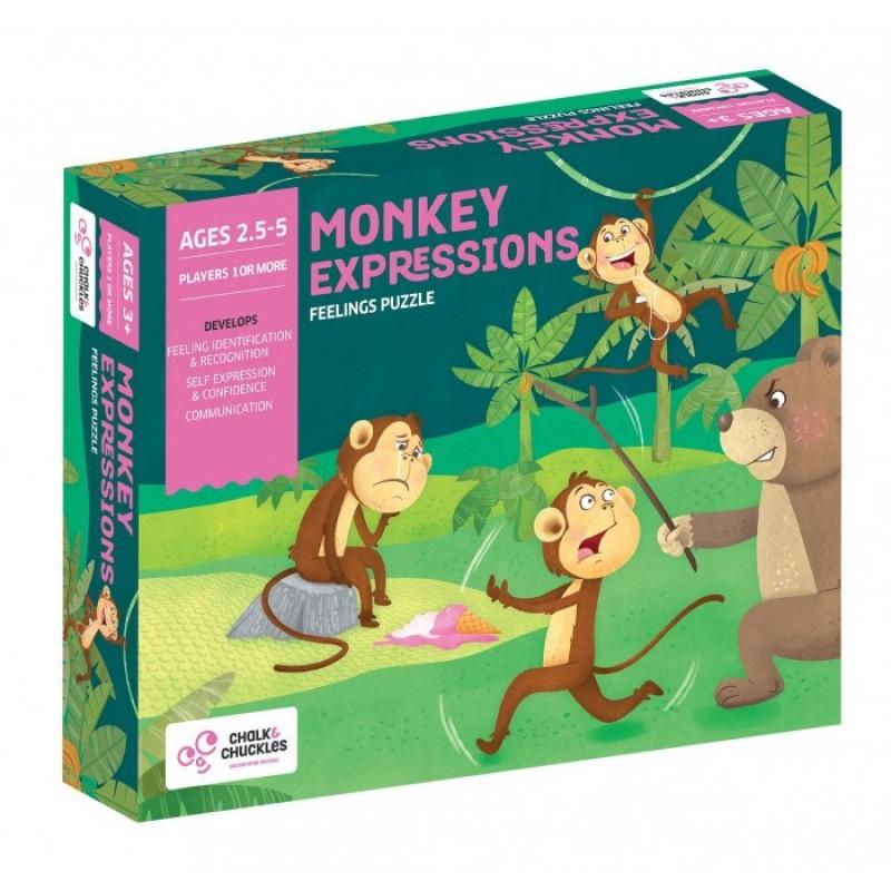 Chalk&Сhuckles Игра настольная Эмоции обезьянки