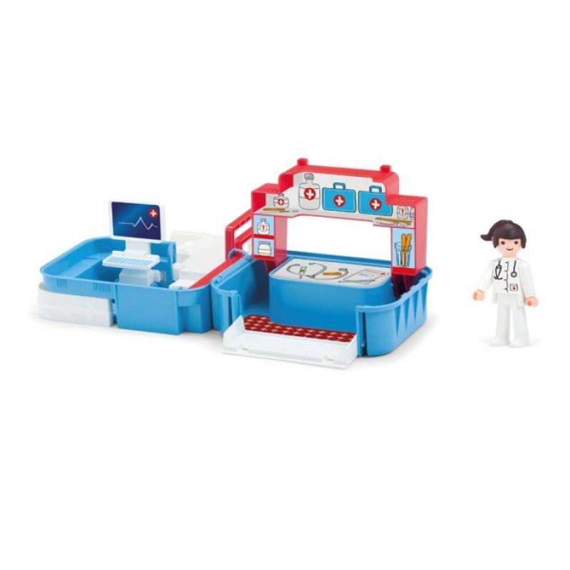 Efko Раскладывающийся игровой набор Больница с медсестрой и аксессуарами