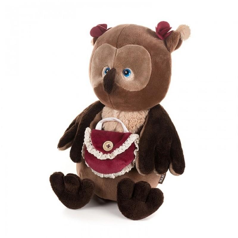 Мягкая игрушка Romantic Plush Club Романтичная сова с сумочкой 25 см
