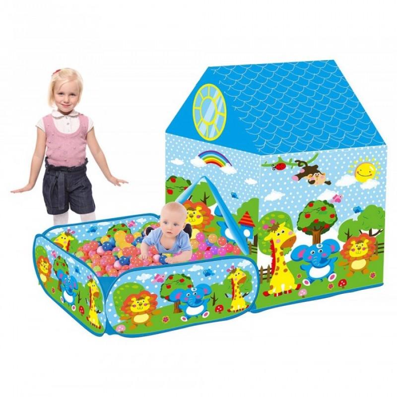 Pituso Дом Зверушки и сухой бассейн + 50 шаров