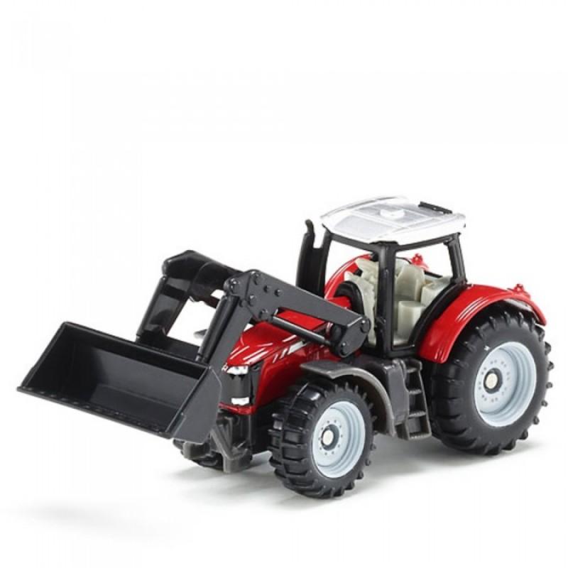 Siku Трактор Massey Ferguson с фронтальным погрузчиком