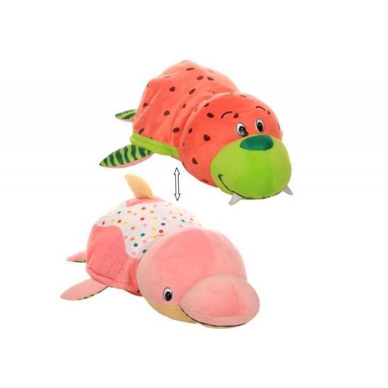 Мягкая игрушка 1 Toy Вывернушка Морж и Дельфин с ароматом 40 см