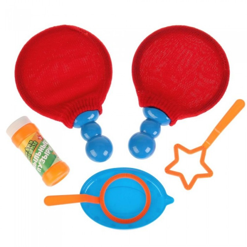 Играем вместе Набор для пускания мыльных пузырей Мимимишки пинг-понг