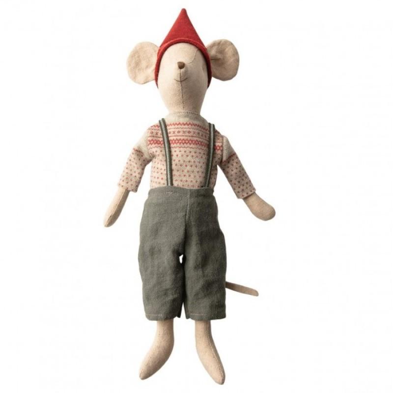 Мягкая игрушка Maileg Рождественский мышонок Медиум
