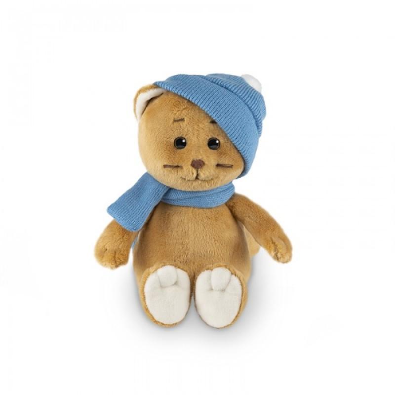 Мягкая игрушка Колбаскин&Мышель Колбаскин в шарфе и шапке в коробке 20 см
