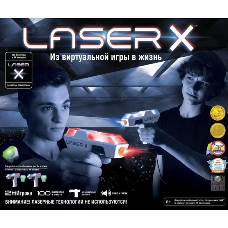 LaserX Набор игровой Микро (2 бластерв, 2 мишени)