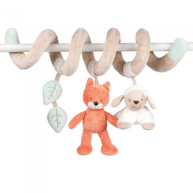 Подвесная игрушка Nattou Toy spiral Fanny & Oscar Оленёнок и Лисёнок 24 см