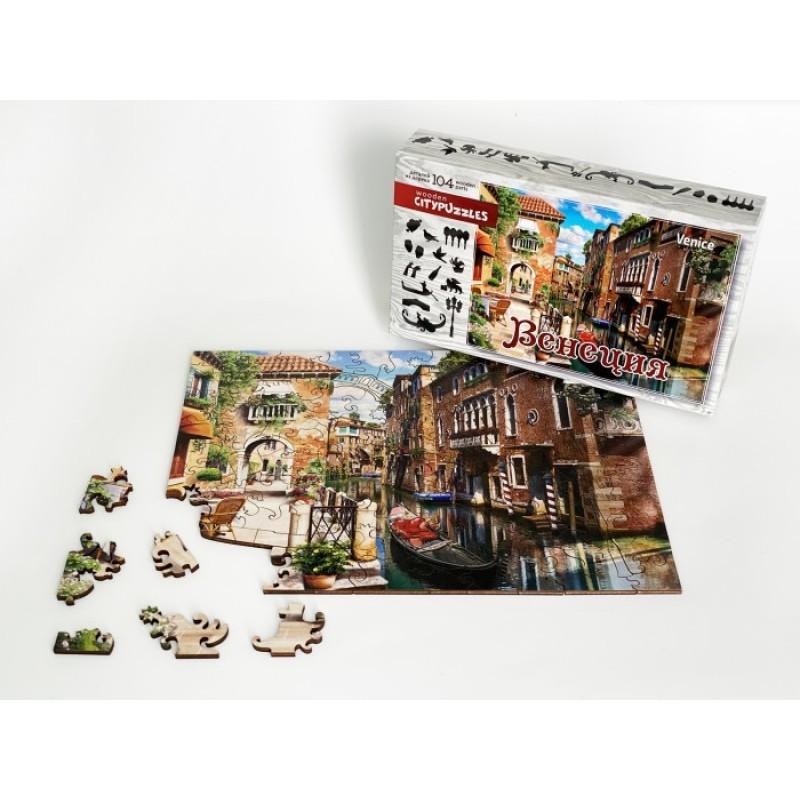 Нескучные Игры Деревянный пазл Citypuzzles Венеция