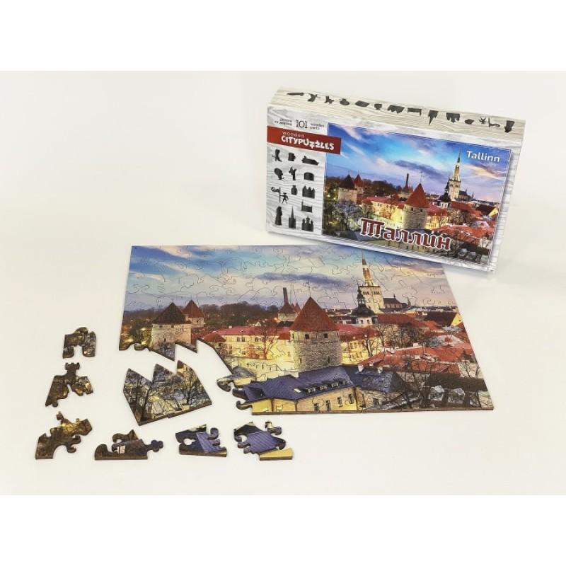 Нескучные Игры Деревянный пазл Citypuzzles Таллин
