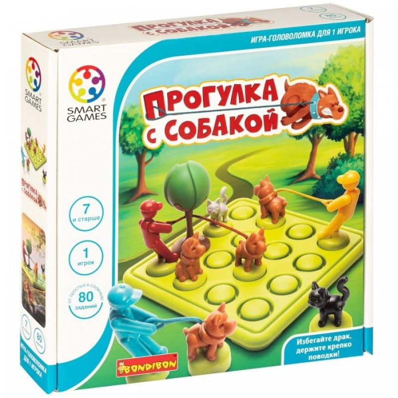 Bondibon Smart Games Логическая настольная игра Прогулка с собакой