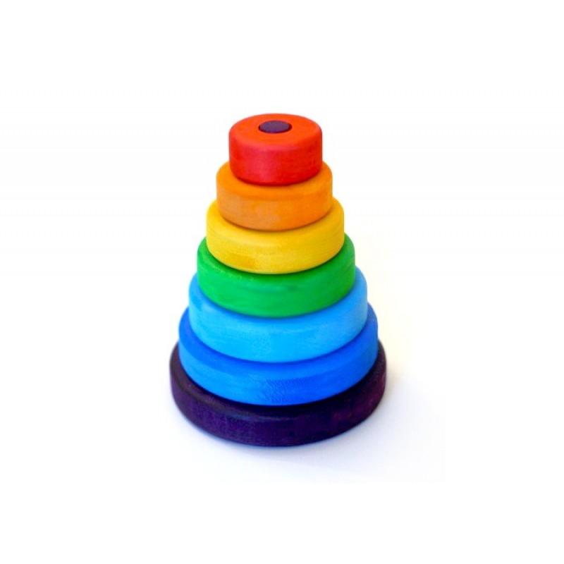 Деревянная игрушка Букарашка Пирамидка Малышка в красной шапочке