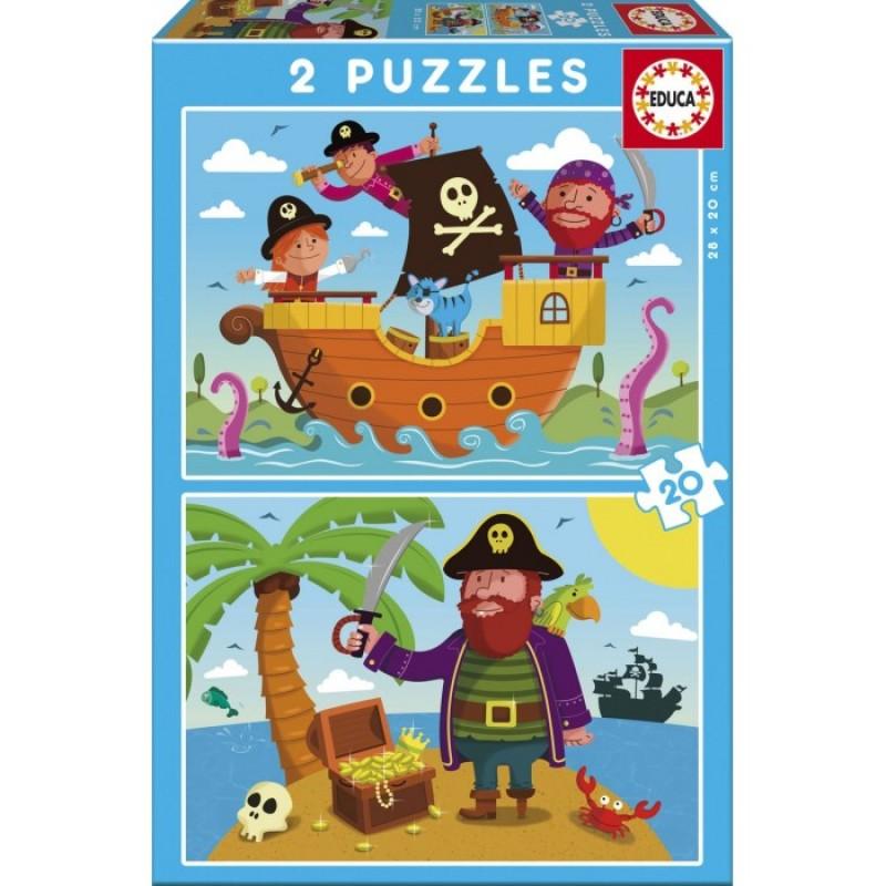 Educa Пазлы Пираты 2 в 1 (40 деталей)