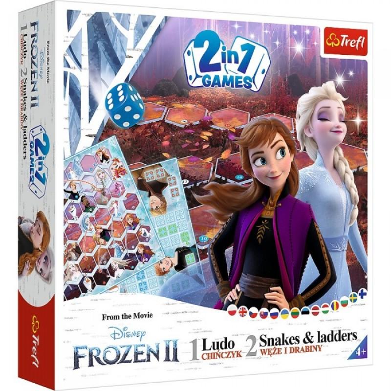 Trefl Настольная игра Змеи и лестницы Frozen 2