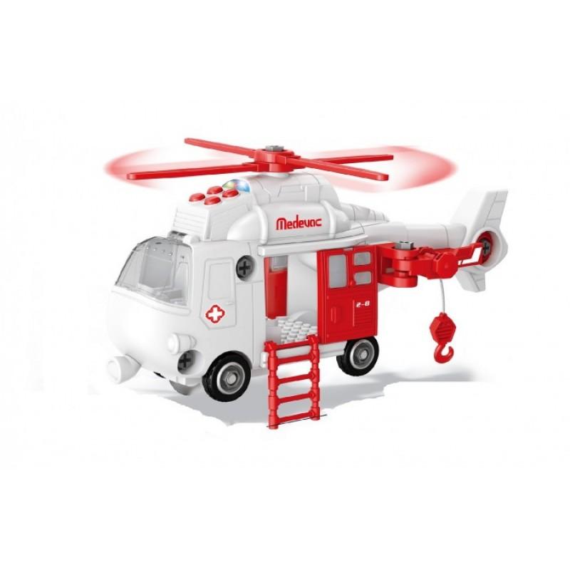 Funky Toys Спасательный вертолет-коструктор 32 см