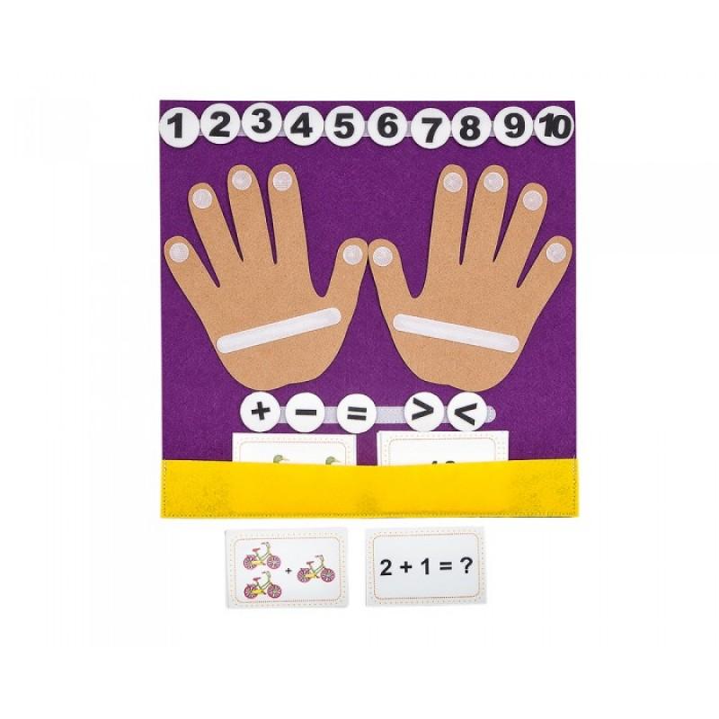 Развивающая игрушка Смайл Декор Коврик-считалка Пальчики