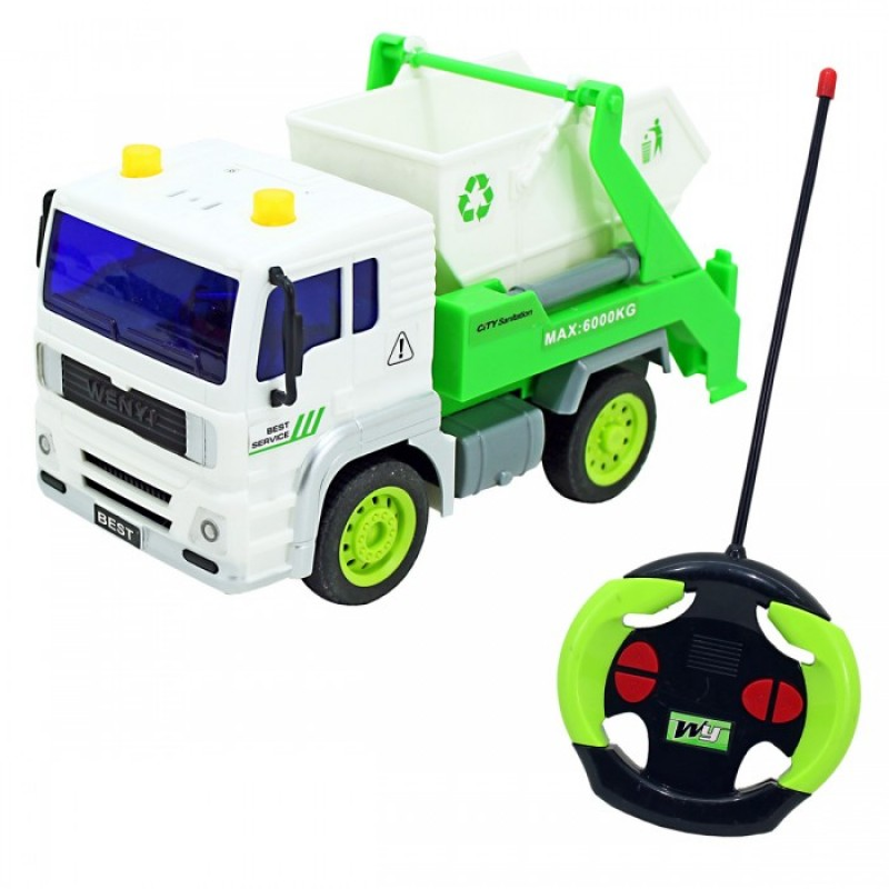 Drift Машина на радиоуправлении грузовик - контейнерный Мусоровоз