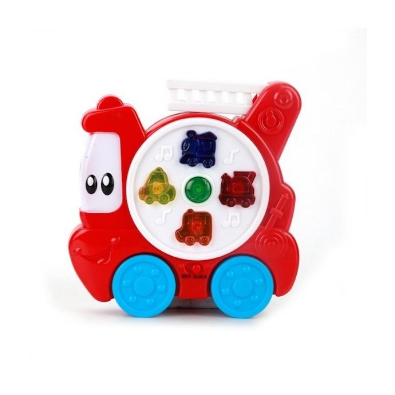 Развивающая игрушка Умка Пожарная машинка со стихами М.Дружининой