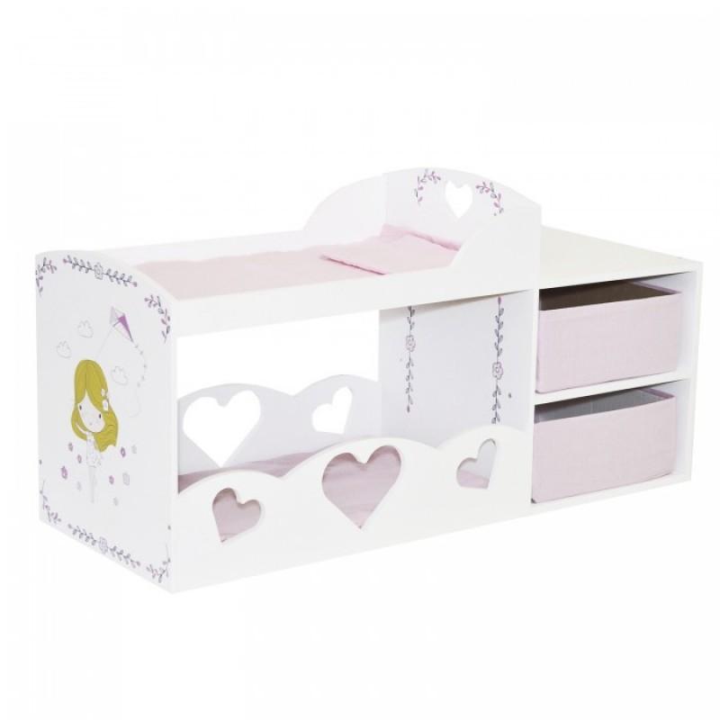Кроватка для куклы Paremo двухъярусная с системой хранения Пьемонт Адриана