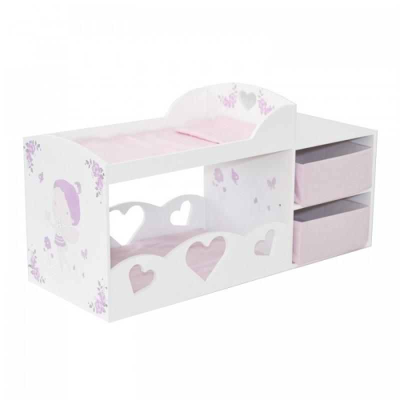 Кроватка для куклы Paremo Двухъярусная с системой хранения Пьемонт Антонелла