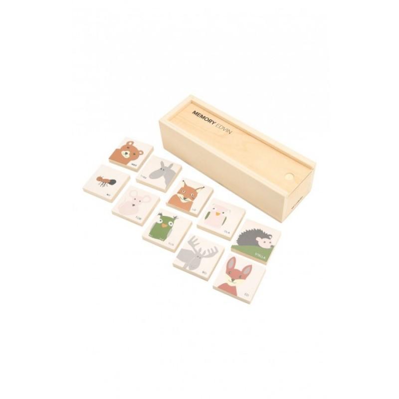 Деревянная игрушка Kid's Concept Набор карточек в коробке для игры на запоминание Edvin