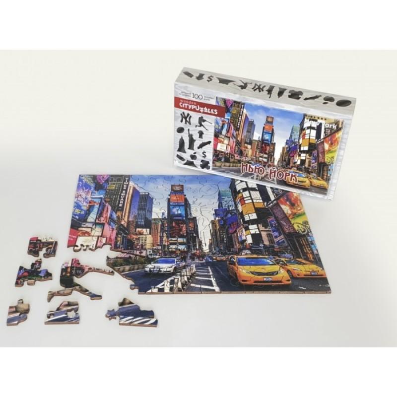 Нескучные Игры Деревянный пазл Citypuzzles Нью-Йорк