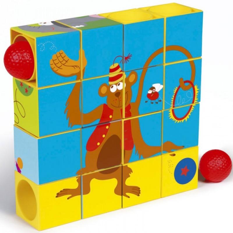Деревянная игрушка Scratch   Пазл-трек Цирк