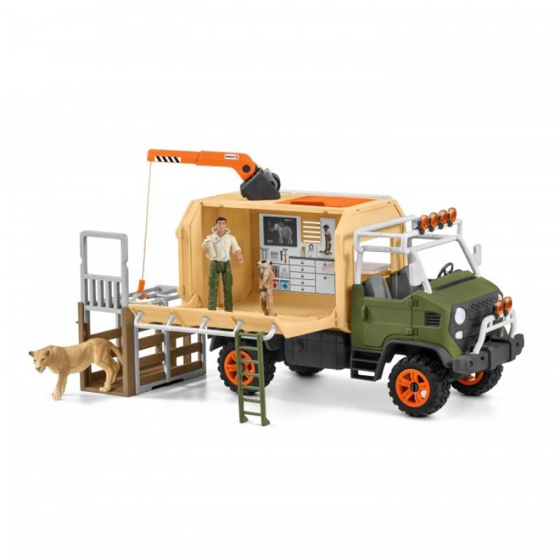 Schleich Набор фигурок Большой ветеринарный спасательный грузовик