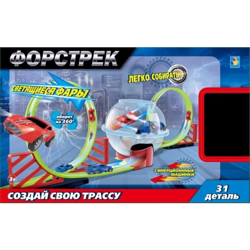 1 Toy Форстрек автодром: 2 машинки, сфера и 2 виража