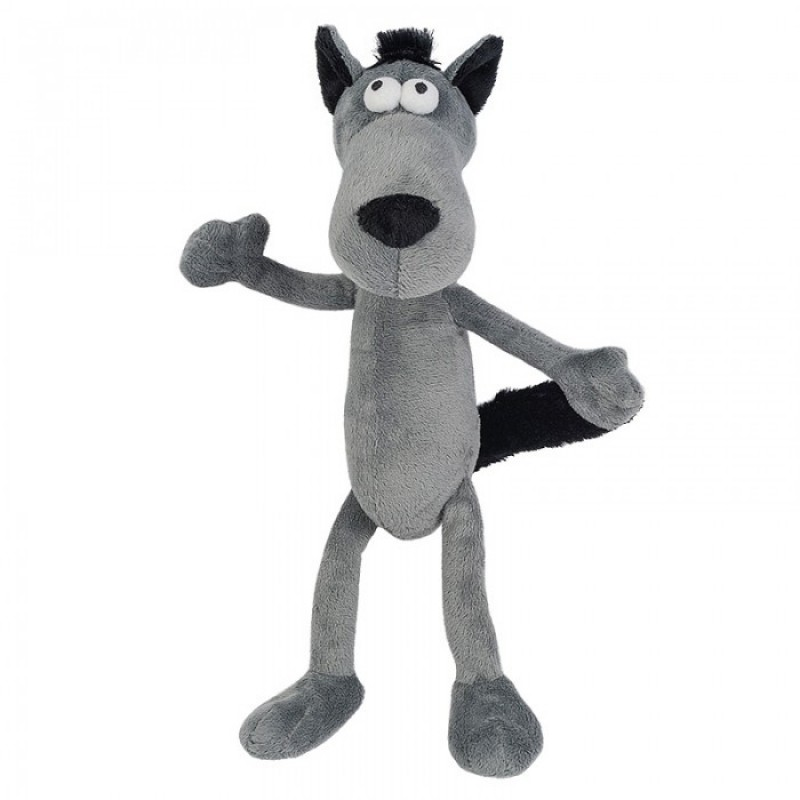 Мягкая игрушка Гнутики Волчок-Серый бочок 22 см