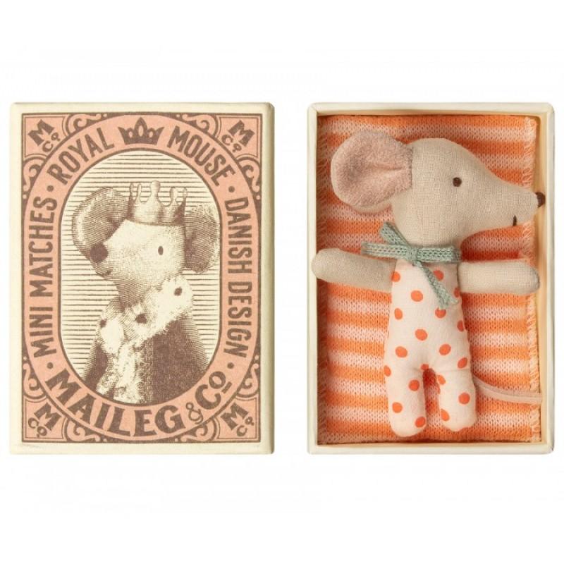 Мягкая игрушка Maileg Новорожденная мышка Sleepy-Wakey