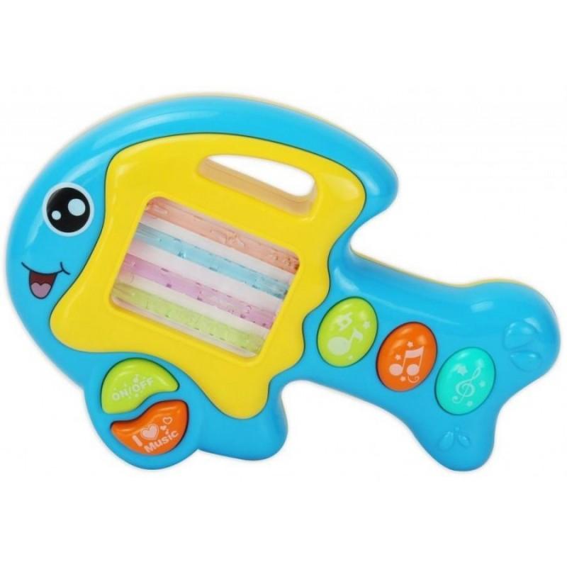 Развивающая игрушка Bambini Пианино Музыкальный Зоо Рыбка
